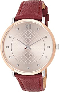 Tommy Hilfiger Women's Analog Quartz Watch With -Leather Strap 1781810, Brown Band