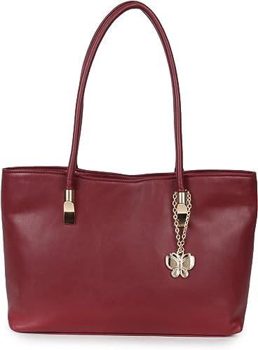 Butterflies Women Handbag (Maroon) (BNS 0656MRN)
