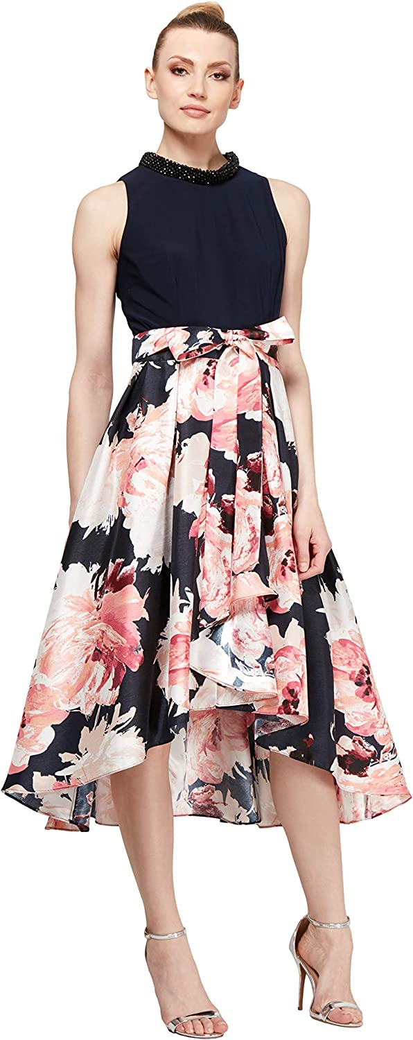 S.L. Fashions Womens HighLow Sleeveless Party Dress Cocktail Dress