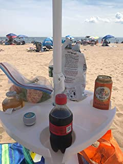 Skywin Umbrella Tray - Beach Umbrella Table Tray with Compartments for Cups and Snacks Great for Beaches, Gardens, Yards, ...