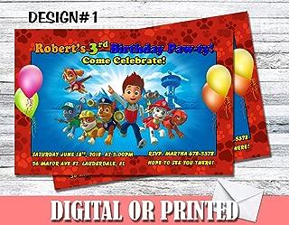Paw Patrol Personalized Birthday Invitations More Designs Inside!