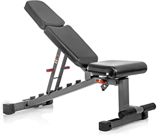 XMark Adjustable FID Weight Bench, 11-Gauge, 1500 lb. Capacity, 7 Back Pad Positions from Decline to Full Military Press Position, Ergonomic 3 Position Adjustable Seat, XM-7630 (Gray or White)