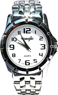 Official Wrangler Limited Edition Mens Watch Rugged Design White Dial Stainless Band Japanese Quartz with Warranty