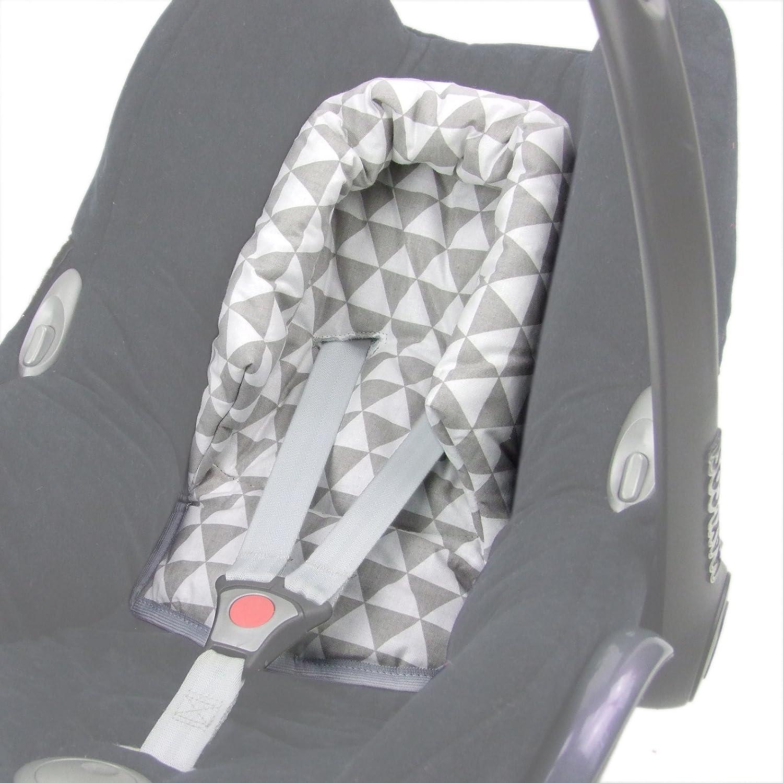Bambiniwelt Kopfkissen Kopfpolster Für Maxi Cosi Cabriofix Design Grau Weiß Dreiecke Xx Baby
