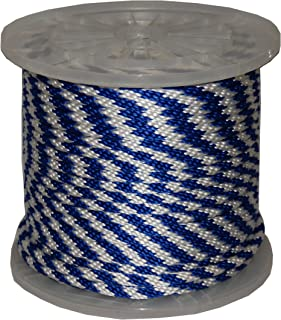 T.W Evans Cordage 27-305 1//4-Inch by 1000-Feet Hollow Braid Polypro Rope Blue and White