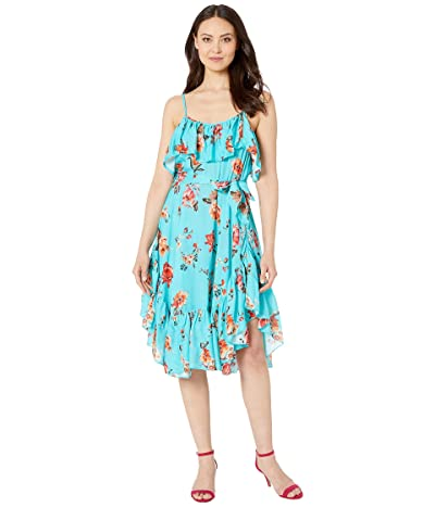 Tolani Mahila by Tolani Deja Midi Dress (Aqua) Women