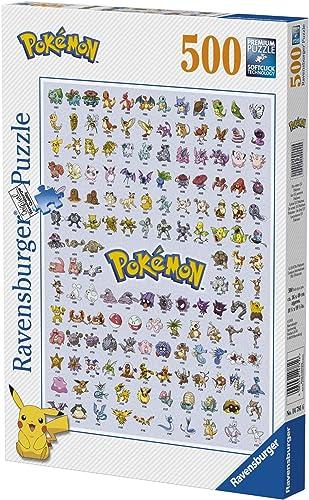 Ravensburger - Pokédex première génération - Puzzle 500 pièces - Puzzle Adultes - Premium Puzzle - dès 12 ans - 14781