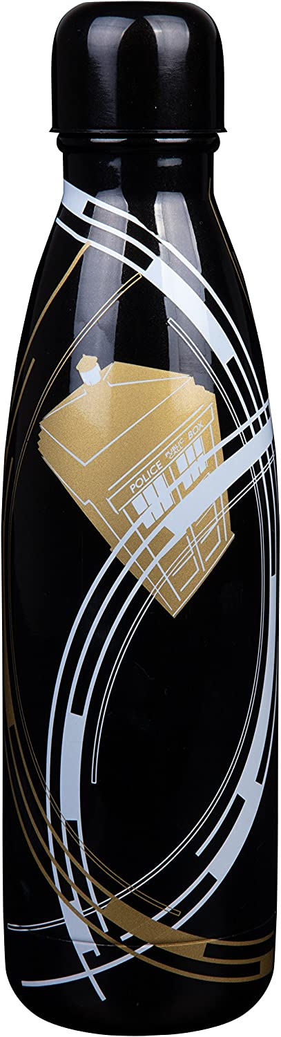 Doctor Who Stainless Steel Water Bottle oz Credence - 17 Des Tardis Now free shipping Gold