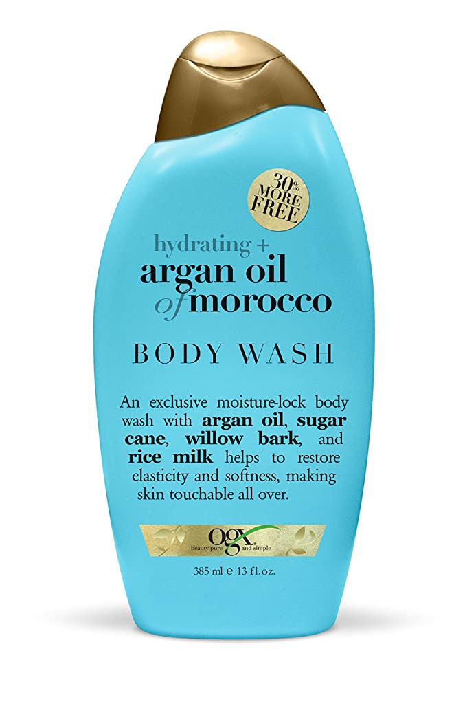 スーダン薄汚い有名Organix Body Wash Moroccan Argan Oil 385 ml (Hydrating) (並行輸入品)