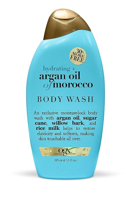 毛布廊下キャンパスOrganix Body Wash Moroccan Argan Oil 385 ml (Hydrating) (並行輸入品)