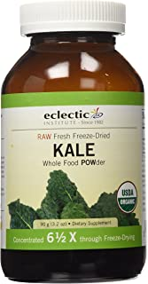 Eclectic Institute Raw Fresh Freeze-Dried Kale Whole Food Powder, 3.2 oz (90 g)
