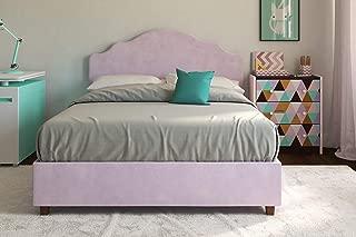 DHP Savannah Upholstered Platform Bed, Lilac, Full