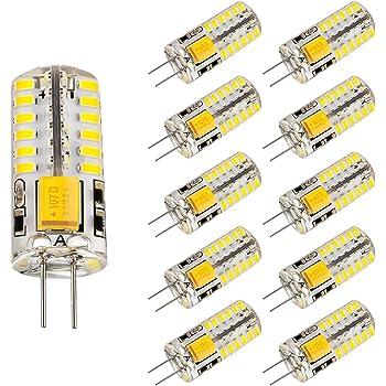 G4 Led Lampe Stiftsockel Lampe Ac Dc 12v 220 Lumen 3w Leuchtmittel Led Leuchte Stiftsockellampen Ersetzt 25w Halogenlampe Kaltweiss 5500k 360ºabstrahlwinkel 10pack Amazon De Beleuchtung