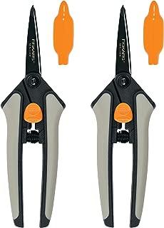 Fiskars Non-stick Softgrip Micro-Tip Pruning Snip, 2 Pack