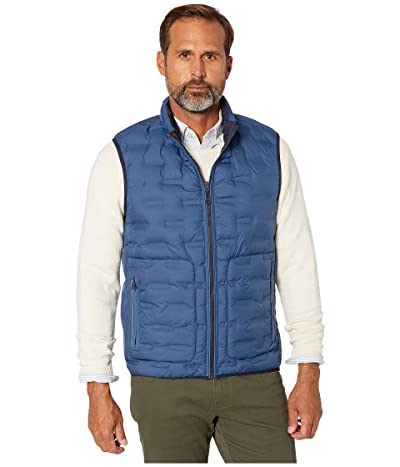 BUGATCHI Melton Sleeveless Reversible Vest (Cobalt) Men