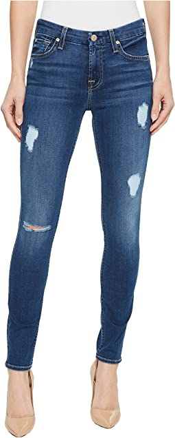 7 For All Mankind Ankle Skinny w/ Destroy in Royal Indigo 2