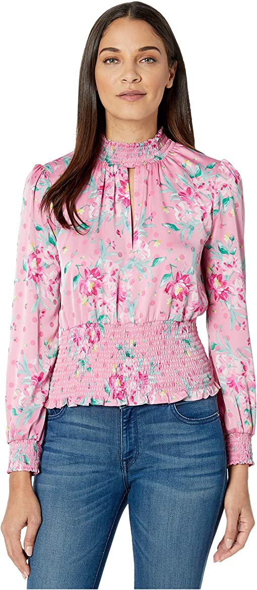 Pink Floral Dot Jacquard