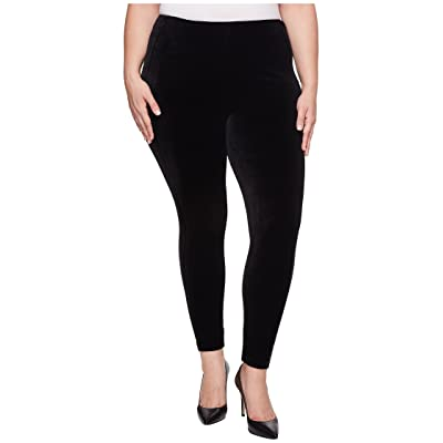Lysse Plus Size Ella Velvet Leggings (Black) Women