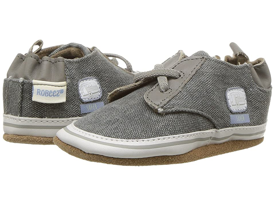 Robeez Cool Casual RV Patch Soft Sole (Infant/Toddler) (Dark Grey) Boy