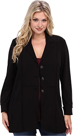 Plus Size Seamed Riding Jacket