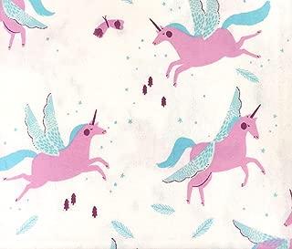 HD Designs Magical Flying Unicorns Soft Flannel Sheet Set, 100% Cotton (Twin)