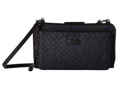 Vera Bradley Iconic Deluxe All Together Crossbody (Denim Navy) Cross Body Handbags