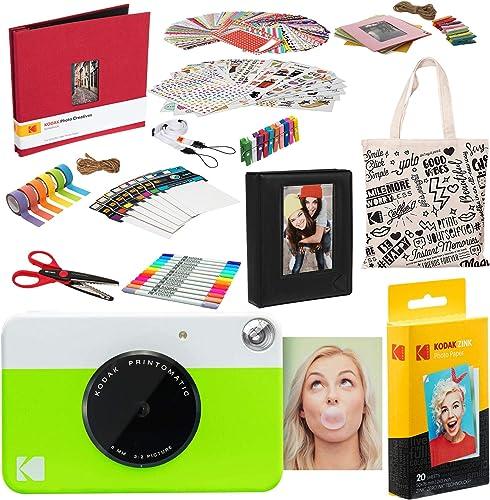 high quality Kodak PRINTOMATIC Instant online Print Camera discount Deluxe Scrapbook Bundle outlet online sale