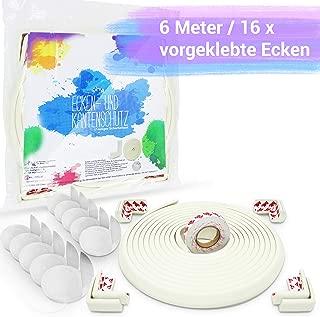 2 Schubladen 8 Kantenschutz Sicherheitsset f/ür Kinder Happy pupo und Puder mit 6 Metern 3 T/ürklinke 3M Klebeband Hypoallergenes Material zertifiziert 3 T/ürklammern