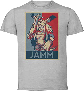 Instabuy T-Shirt Unisex - Grey Shirt - Propaganda - Pixel Art - Golden Axe The Duel - Jamm