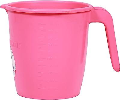 Samruddhi Plastic Colonel Mug, 1 Liter, Pink