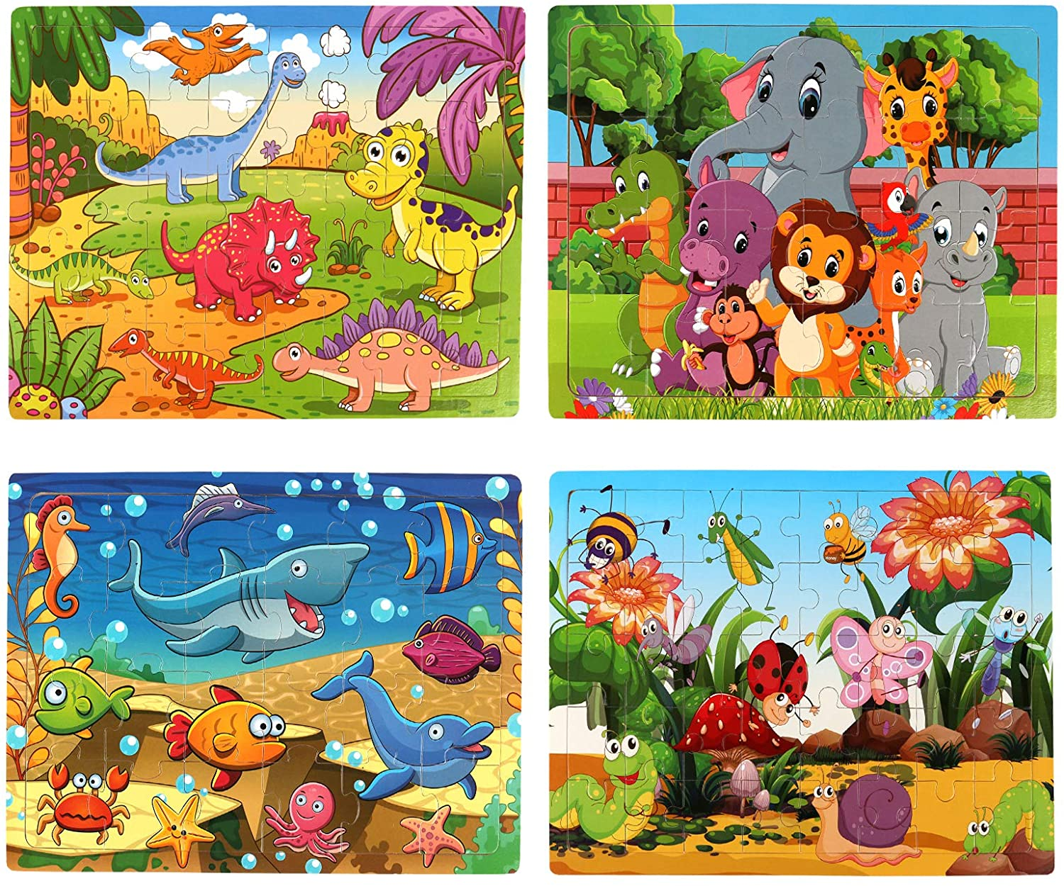 SYNARRY Wooden Jigsaw Puzzles Purchase for Kids Pack Max 53% OFF Old Year Age 4 3-5