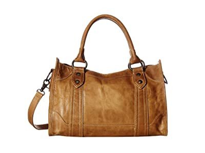 Frye Melissa Satchel (Beige Antique Pull Up) Satchel Handbags