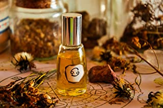 Cancer Natural Perfume 10 ml, Zodiac Sun Sign Essential Oils Blend Roll On, Made to Order
