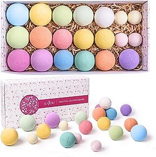 Bath Bombs Gift Set, Anjou 20 Pack Natural Essential Oils Spa Bath Fizzies for Moisturizing Dry Skin, Chris...
