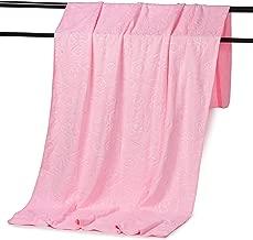Docalon Big Towel Beach Towel Bath Towel Cotton Bath Sheet Large Bath Towel Absorbent Towel Ultra-fine Fiber Bath Towel Big Scarf (Pink)
