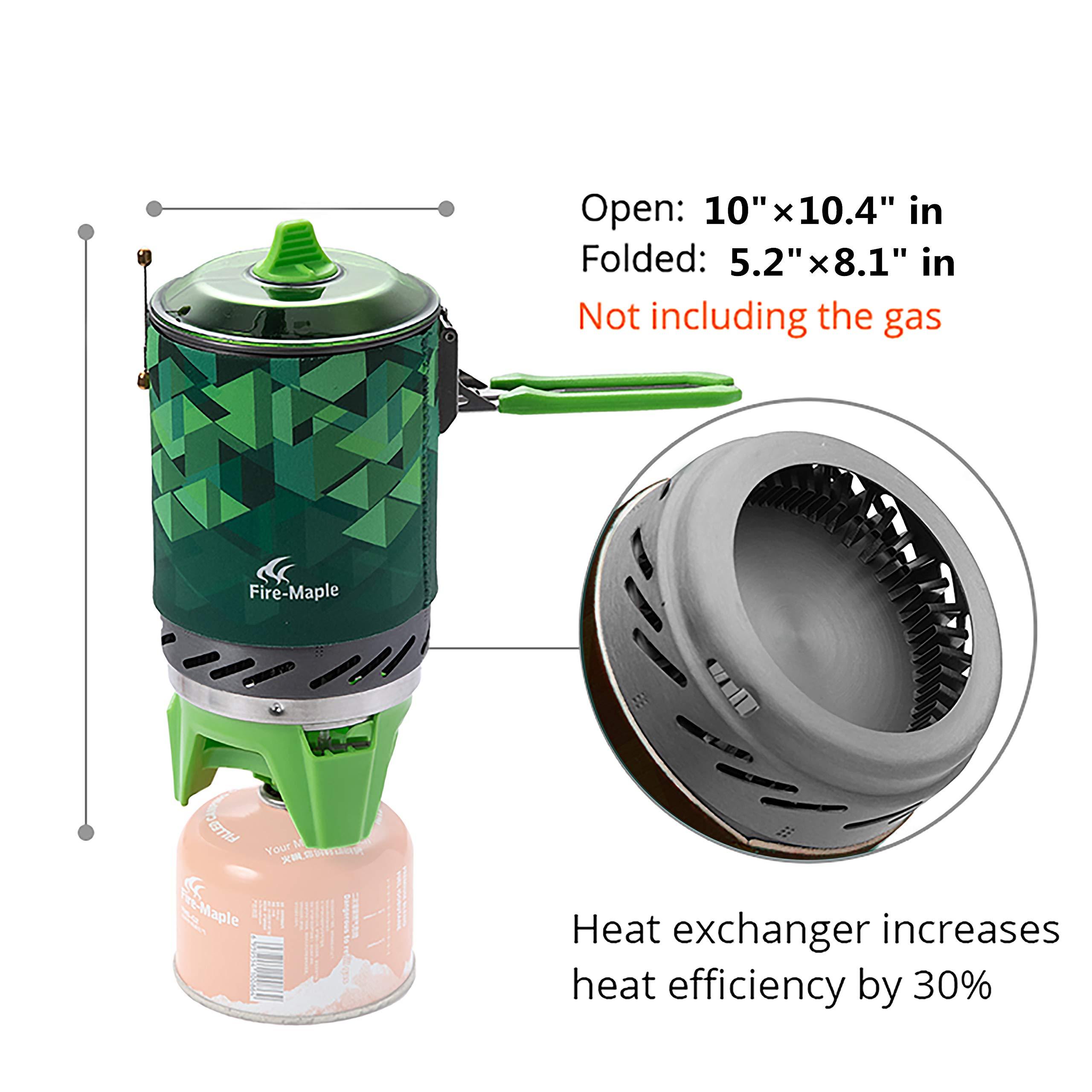 600 Gramos Fire-Maple 2019 Star FMS-X2 1L 2200w hornillos port/átiles Ultraligera compacta Resistente al Viento con Soporte y Soporte para Encendido piezoel/éctrico Pot