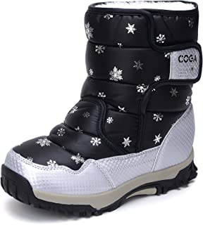 UBELLA Boy's Girl's Outdoor Waterproof Insulated Snowflake Winter Snow Boots (Little Kid/Big Kid)