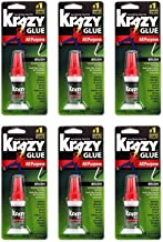Krazy Glue KG92548R Instant Krazy Glue 0.18-Ounce All Purpose Brush - Pack of 6
