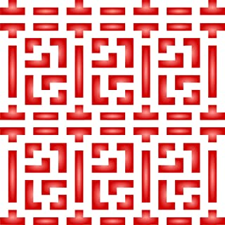 "Chinese Lattice Stencil - (size 10.5""w x 10.5""h) Reusable Wall Stencils for Painting - Best Quality Allover Wallpaper ideas - Use on Walls, Floors, Fabrics, Glass, Wood, Terracotta, and More……"