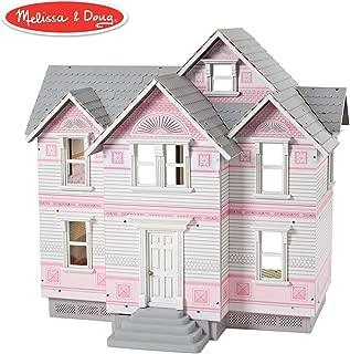 Melissa & Doug Victorian Dollhouse (Detailed Illustrations, Sturdy Wooden Construction, 29.5