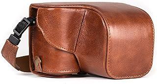 """MegaGear """"Ever Ready"""" skyddande kamerafodral i läder, väska för Sony Alpha A6000, A6300 med 16-50 mm (mörkbrun)"""