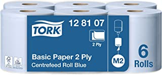 Tork 128107 Papier d'essuyage Universal à dévidage central M2 - 150 m x 19,4 cm - lot de 6 bobines - Bleu