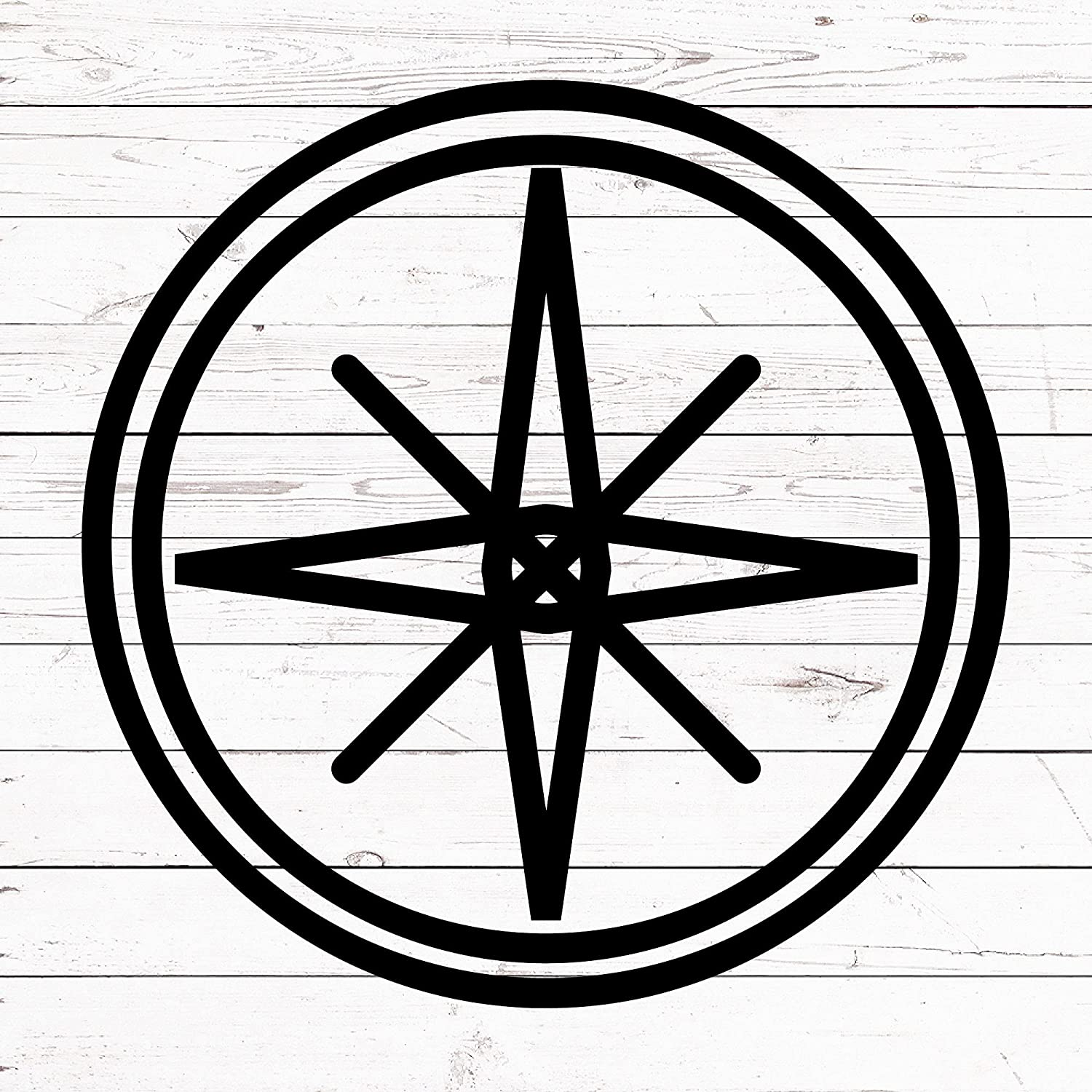 Adecals cool Gorgeous 6 in Compass Sticker Rose Super beauty product restock quality top Travel - St Nautical Wind