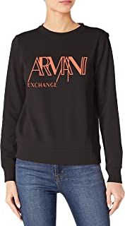 Armani Exchange A|X Womens 8NYMFBYJP1Z Stencil Logo Pullover Sweatshirt Sweatshirt