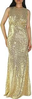 YSJERA Women's Sequins Bling Sleeveless Goddess Wedding Party Evening Maxi Dress Full Gown