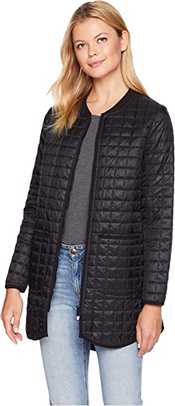 Zip Front Quilted Jacket with Two-Pockets