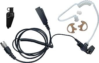 Mic & Earpiece Law Enforcement Kit- Acoustic Tube, Earmolds, Ear Buds, & Kenwood Adapter - TK & NEXEDGE (NX) Multi-Pin, Viking VP, VP5000 VP5220 VP5320 VP6000 VP6230 VP6330 VP6430 & More