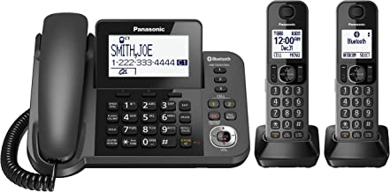 PANASONIC Bluetooth Corded / Cordless Phone System with Answering Machine, Enhanced Noise..