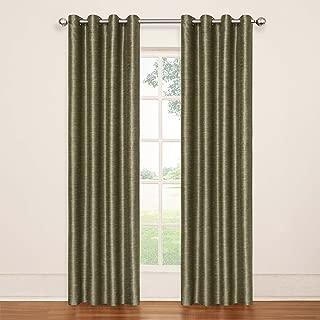 ECLIPSE 13746052084TUN Deron Blackout Grommet Single Window Curtain Panel, 52x84, Tundra