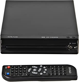 Craig CVD401A Compact HDMI DVD Player with Remote in Black | Compatible with DVD-R/DVD-RW/JPEG/CD-R/CD-R/CD | Progressive ...